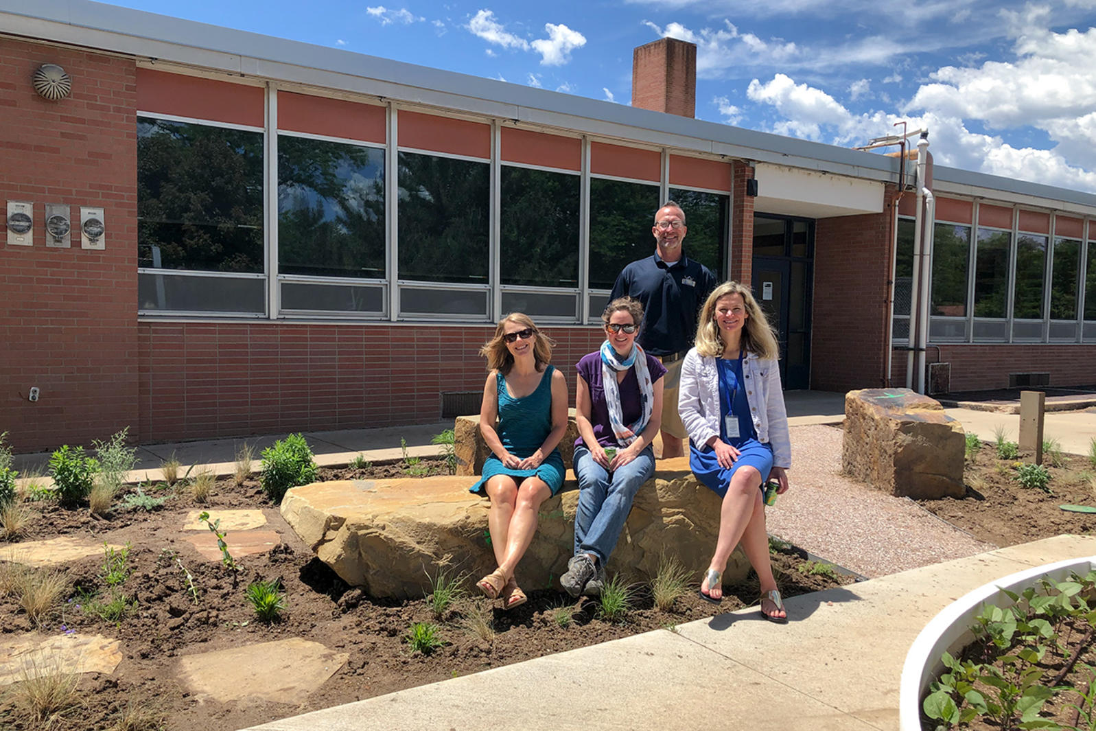 The newly-planted Habitat Hero garden at Lesher Middle School.