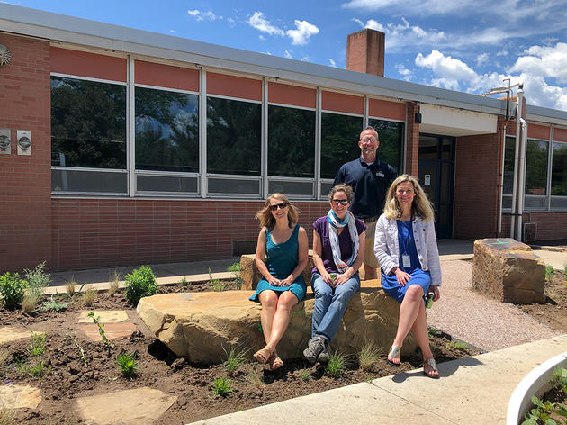 New Habitat Hero Garden at Lesher Middle School