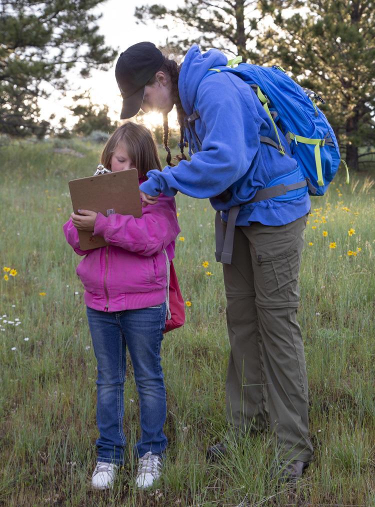Volunteers surveying birds at Wyoming BioBlitz 2018.