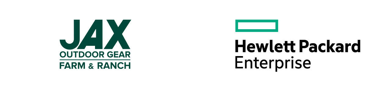 JAX's logo next to Hewlett Packard Enterprise's logo.