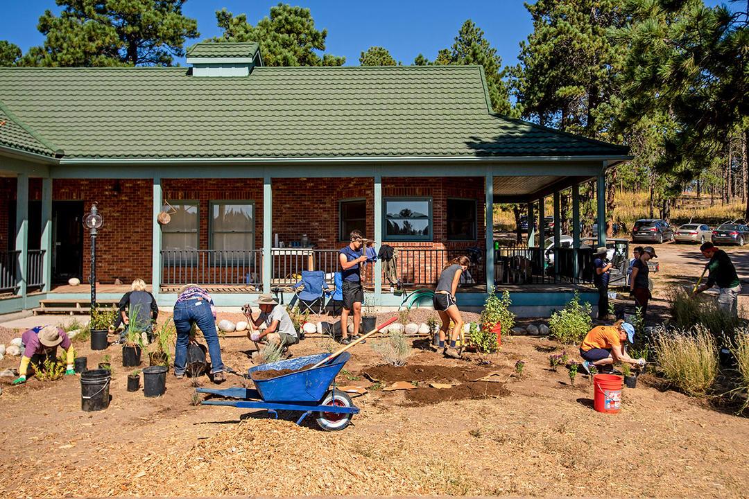 A Habitat Hero planting event at Kiowa Creek Ranch in September of 2019.