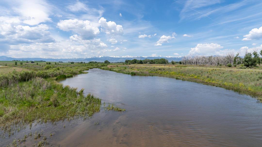 St Vrain Creek in Longmont, Colorado.