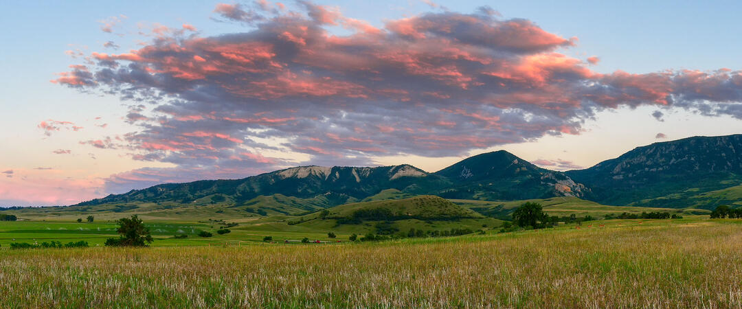 Sunset over the Big Horn Mountains.